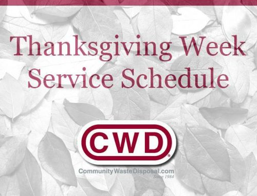Thanksgiving Week Municipal Service Schedule