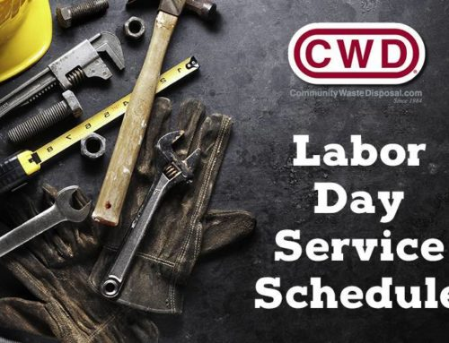 Labor Day Residential Schedule