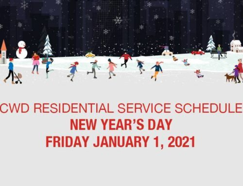 New Year's Day 2021 Residential Schedule